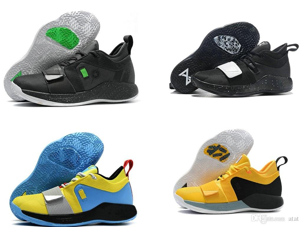 competitive price 38fae 4330d PlayStation x PG 2.5 Wolf Grey Optic Yellow White Paul George 2.5 Champion  Men Running Shoes for Good quality Sports Sneakers