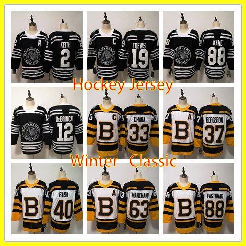 30c72cfef 2019 Winter Classic Jersey Chicago Blackhawks Boston Bruins Toews DeBrincat  Patrick Kane Crawford Pastrnak Hockey Jerseys Toews DeBrincat Patrick  Online ...