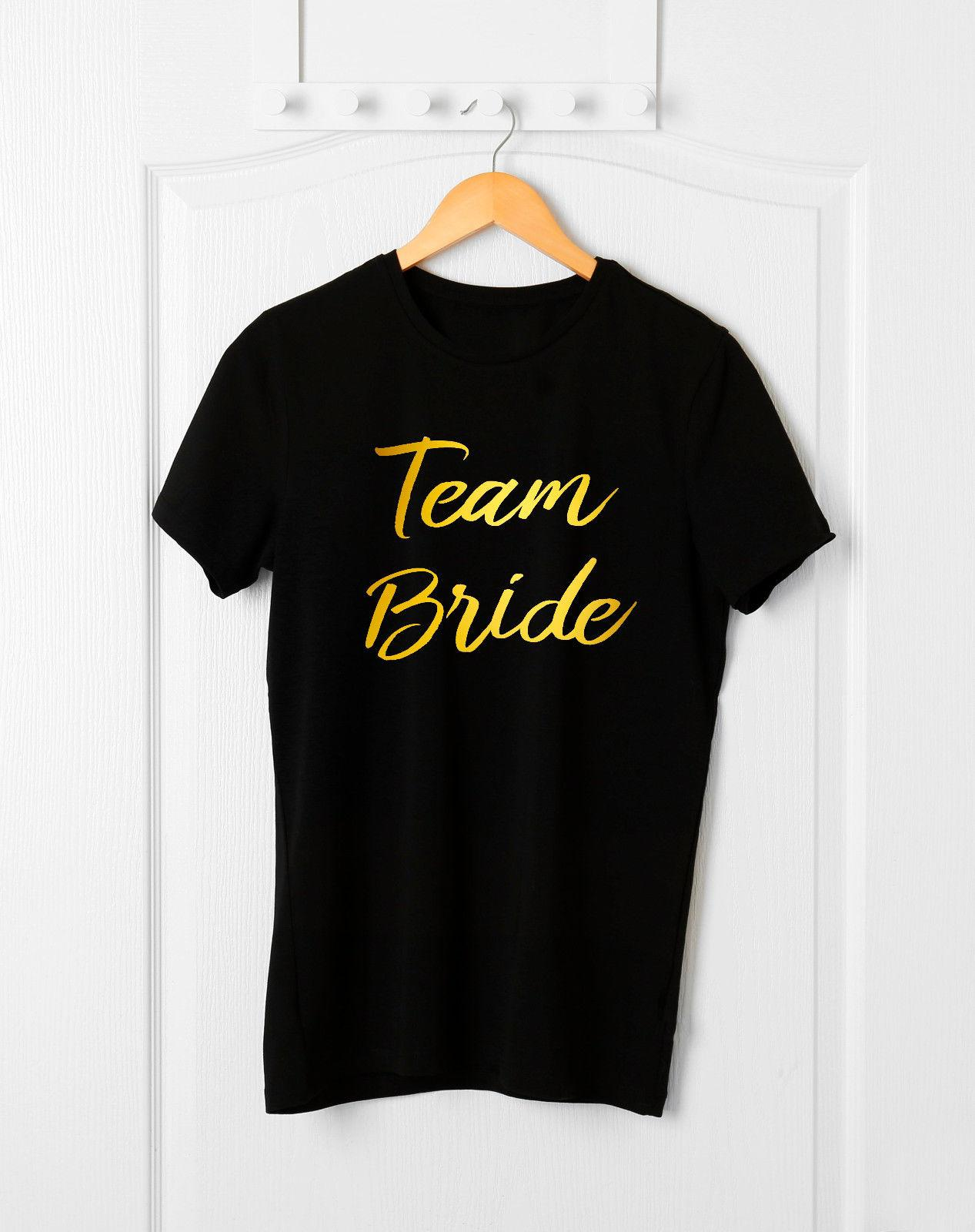7abd710c Team Bride T-Shirt,Hen Party T-Shirt,Engagement Gifts,Wedding  Party,Bridesmaid O-neck Fashion Printed Round Neck man's