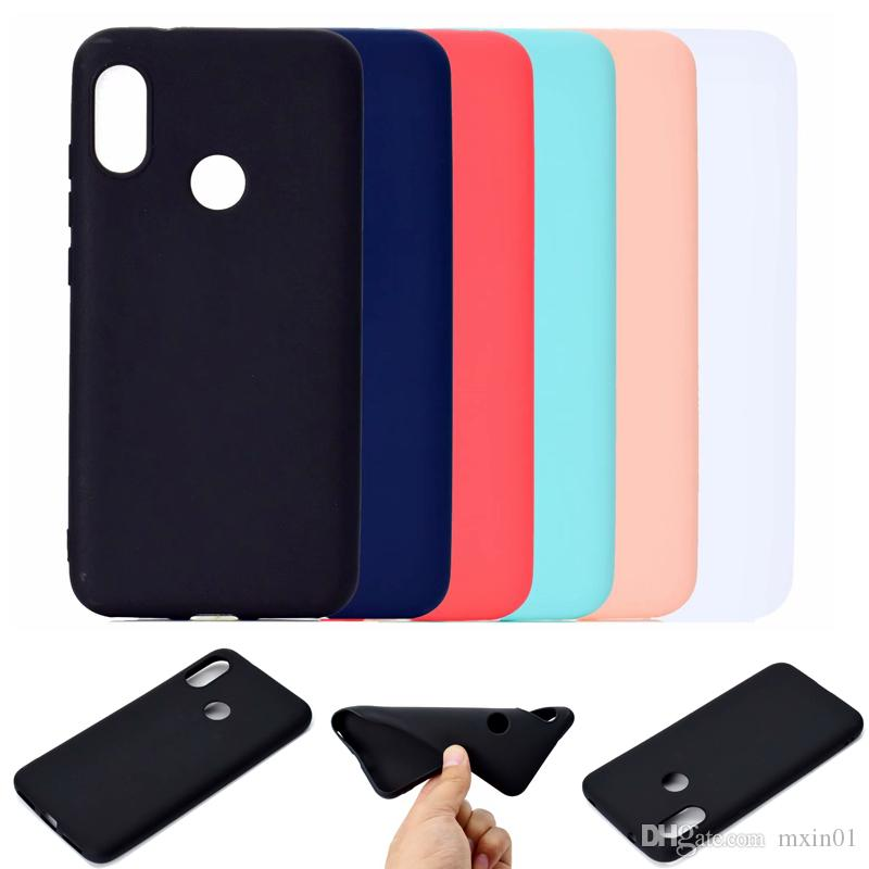 new concept 95f81 402d9 Candy Color Matte Silicone Soft TPU Case For RedMi Note 5 6 Pro 7 S2 5A  XiaoMi Play 5X 6X MIX MAX 3 8 SE 2 5S Plus F1