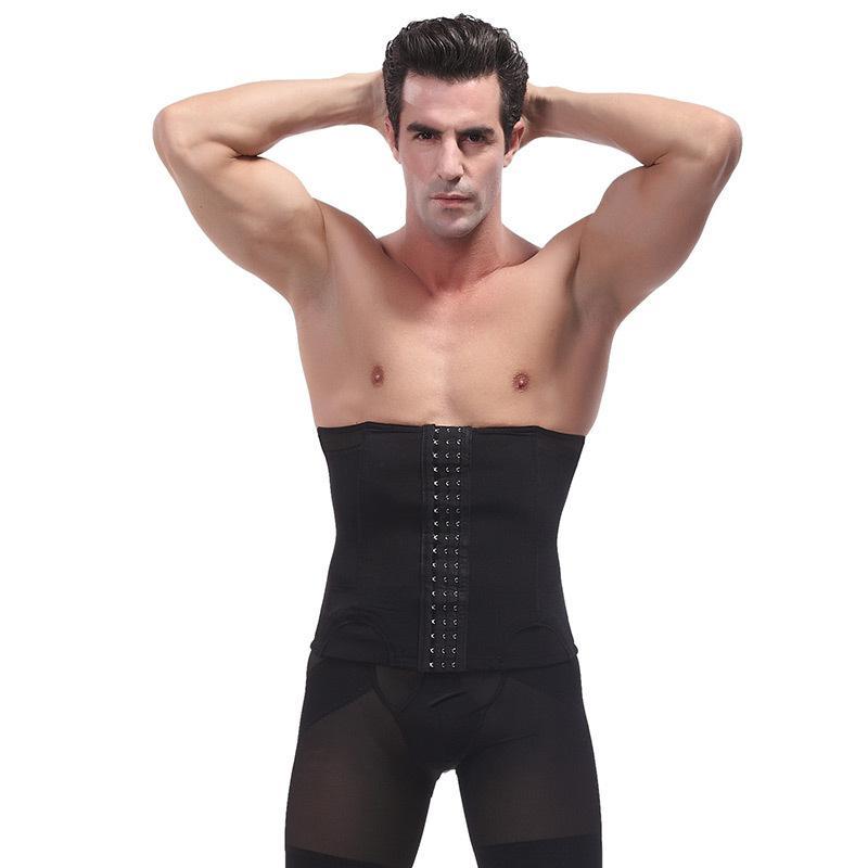 5d17ed5e9da 2019 Hot Men Body Shaper Large Size Slimming Waist Trainer Cincher Corset  Male Modeling Belt Belly Fat Steel Boned Fitness Shapewear From Redbud06