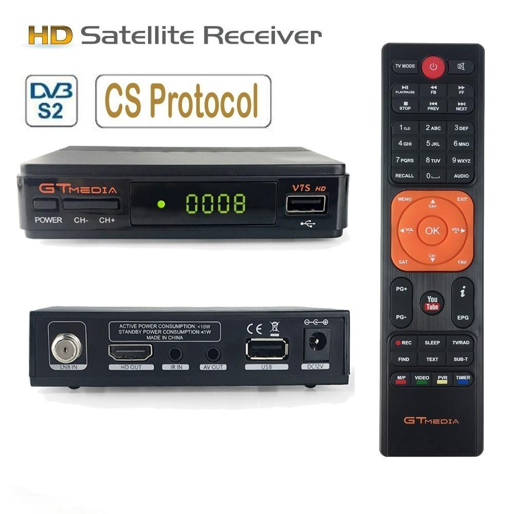 GTmedia V7S DVB-S2 Digital TV Box Satellite Receiver Decoder HD DVB-S2 Receptor Wifi Youtube Cccam/Biss Key/Vu Set Top Box
