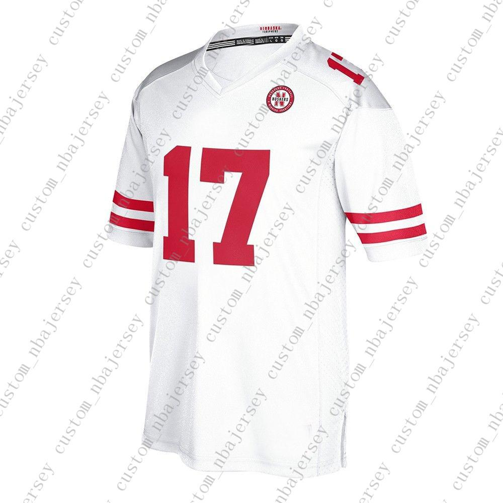 quality design 65348 44352 Cheap Custom Nebraska Cornhuskers #17 NCAA White Away Road Jersey  Personality stitching custom any name number XS-5XL