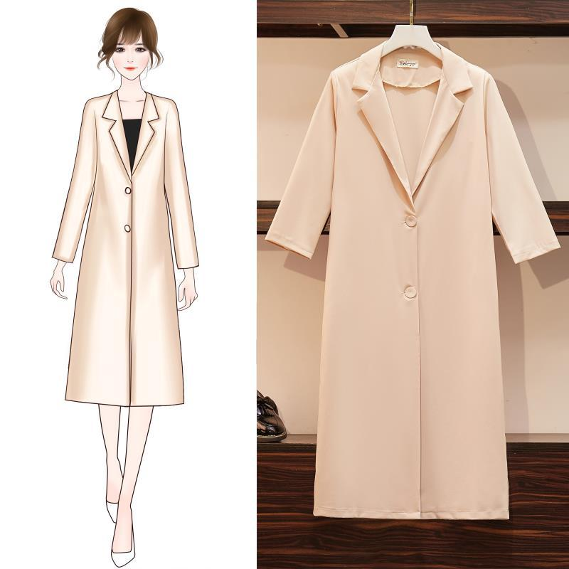 Autumn suit collar Medium length women coats plus size jackets Office Lady Single-breasted casual Temperament woman coat 2019