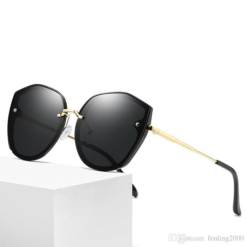 c2fd755e700 2019 New Cat Eye Sunglasses Ladies Polarized Sunglasses European And ...