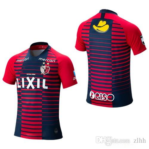 the best attitude c233b 1d0a4 3AAA+ 2019 2020 Kashima Antlers Soccer Jersey 8 DOI 18 SERGINHO 30 ABE 25  ENDO 6 NAGAKI Custom Home apan J League Red Blue Football Shirt