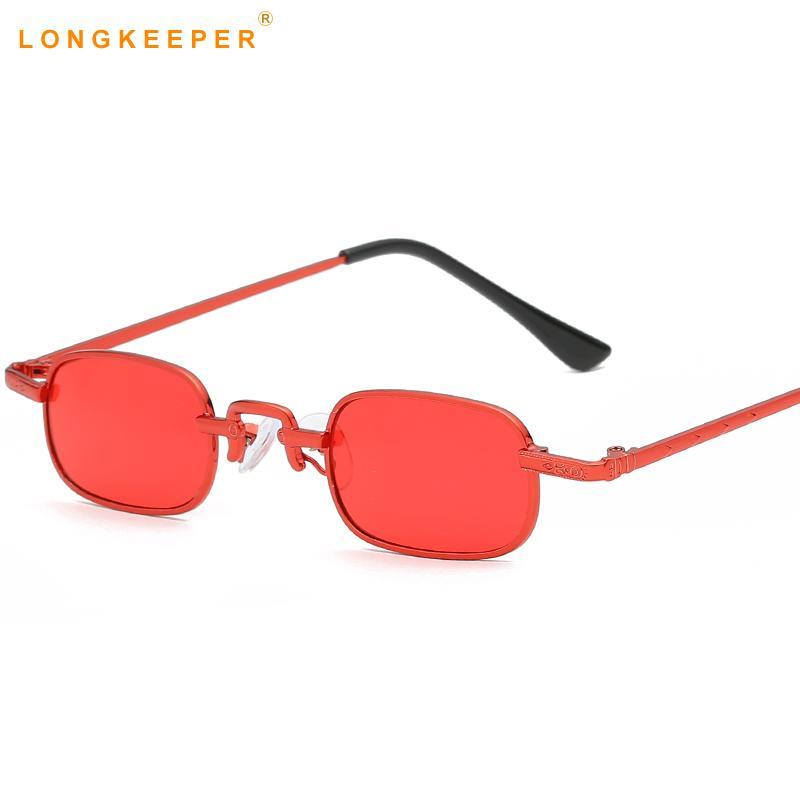 7c047de1b6 Compre Gafas De Sol Cuadradas Pequeñas Mujeres Hombres Vintage Retro  Diseñador De La Marca Gafas De Sol Negro Rojo Rosa Gafas De Sol Uv400 Tonos  Mujeres ...