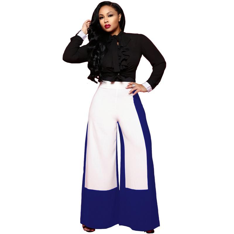 Acheter Sarouel Femmes 2019 Tendance Taille Haute Irrégulier Lâche Vin  Flare Pantalon Dames Blanc Élégant OL Style Pantalon Large Jambe De $17.71  Du Jc801