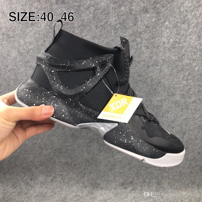 2600f849f High Quality Black White 8.0 Basketball Sports Shoes 2019 Mens Trainer  Sneakerboot Cushion 8 Running Shoes 40-46 Basketball Shoes Mens Basketball  Shoes ...