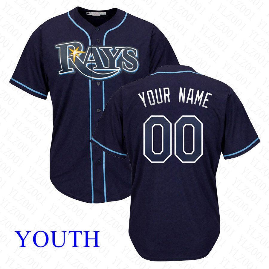 best service 194f3 8eb69 Youth Kevin Kiermaier Jersey Custom Rays Stitched Adam Kolarek Austin  Meadows Matt Duffy Blake Snell Kids Wade Boggs Baseball Jersey