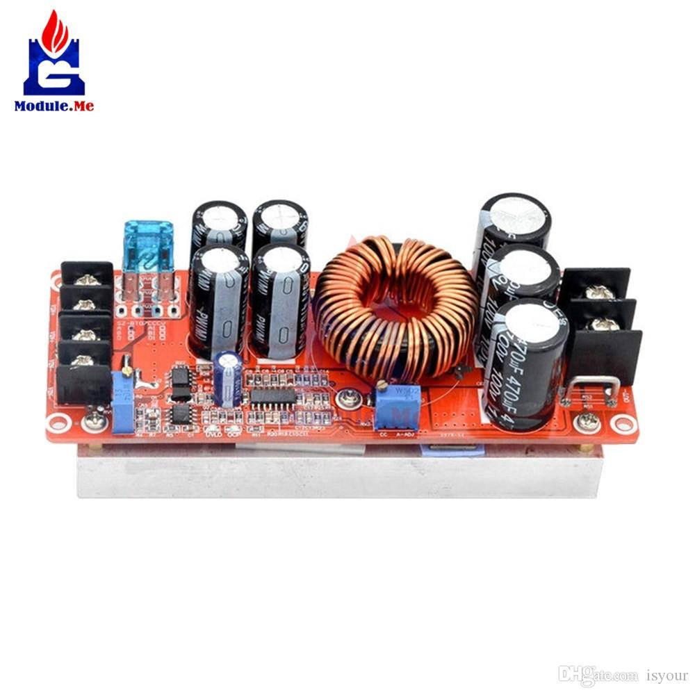 Freeshipping DC 20A 1200W Boost Constant Current Module Variable Voltage Power Supply IN 8-60V Top Quality Step Up Module