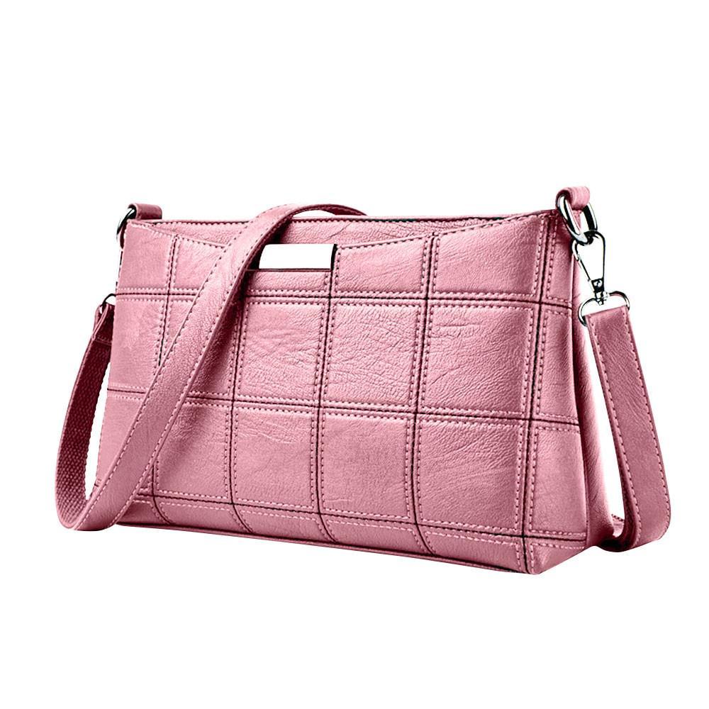 bf21d9aed867e Großhandel Frauen Handtasche Lässig Quaste Weiblichen Designer Tasche Leder  Plaid Umhängetasche Schulter Kleine Platz Paket   YL Von Naforan
