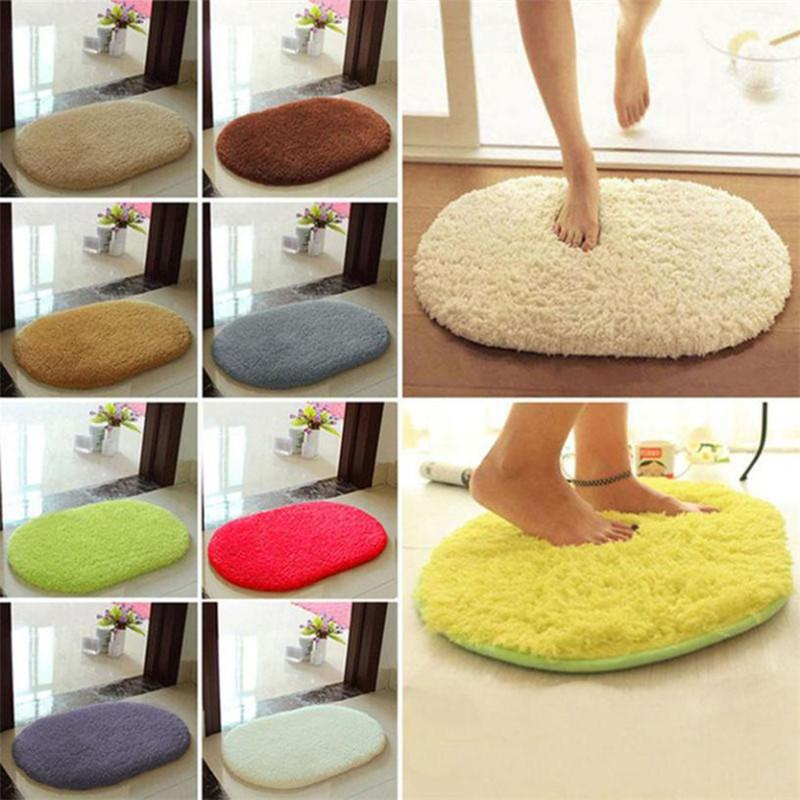 30*40cm Bathroom Carpets Mat Anti-Skid Fluffy Shaggy Area Rug Home Bedroom Bathroom Floor Door Soft Fine Fiber Mat 2017 Fashion