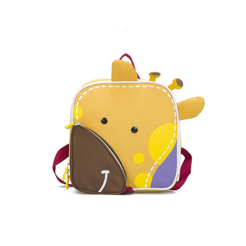 e94e6e753a5d good quality Cute Cartoon Traction Bags Kids Canvas Zipper Backpack Solid  Mini Children Shoulder Bag For Kindergarten Backpacks