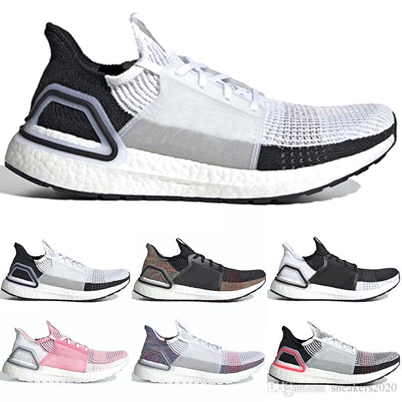 2019 Ultra Boost 19 Hombres Mujeres Zapatillas de running Ultraboost 5.0 Láser Rojo Núcleo de píxeles oscuro Negro Ultraboosts Diseñador Sport Sneaker