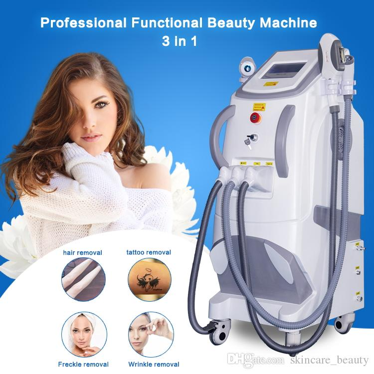 Professional Hair Removal IPL + Elight + SHR Wrinkle/Acne/Hair Removal/Skin Rejuvenation System Intense Pulsed Light Machine