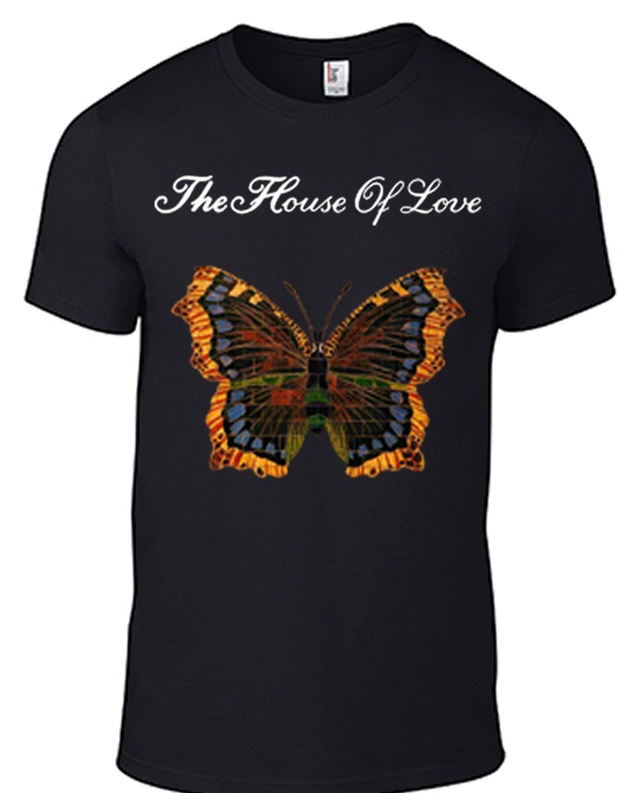 6e244f97 HOUSE OF LOVE Butterfly T Shirt Smiths Morrissey Pixies Ride Slowdive Cd  Men Women Unisex Fashion Tshirt Black Best T Shirts Shirts Online From ...