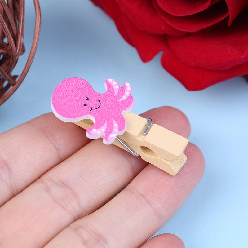 12pcs 3.5*2cm Colored Mini Love Heart Wooden home Supplies Craft Memo Clips DIY Clothes Paper Photo Peg Decoration