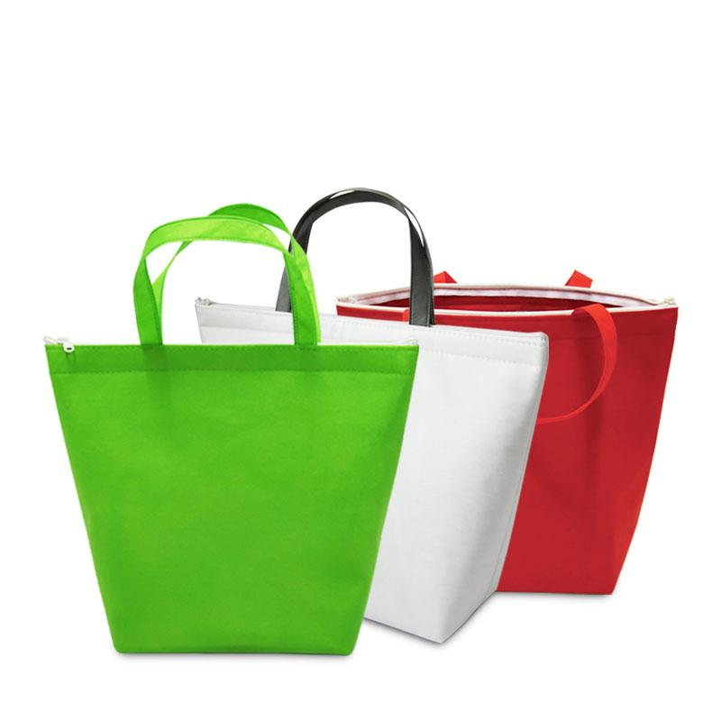 non woven fabric cooler bag portable lunch picnic thermal handbag ice pack drinks cold warm carrier insulated cool bag
