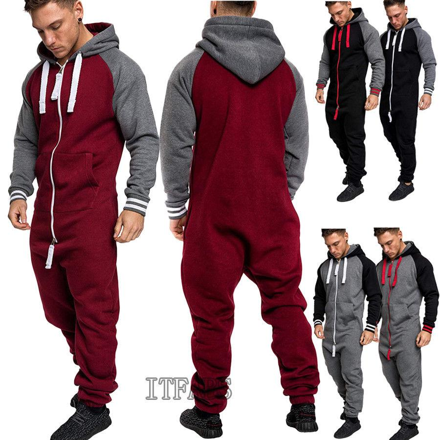 26d6a6a2a69 2019 Women Men Hooded Tracksuit Zipper Ones Jumpsuit Ladies One Piece  Playsuit Unisex Hoody Long Sleeve Warm Set Trousers From Rachaw
