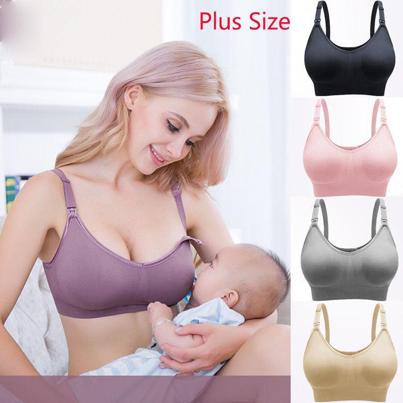 2a75565f88a73 2019 2019 New Maternity Nursing Bra Cotton Underwire Breast Feeding Bras  Baby Feeding Adjustable Wireless Pregnancy Bras From Ferdimand