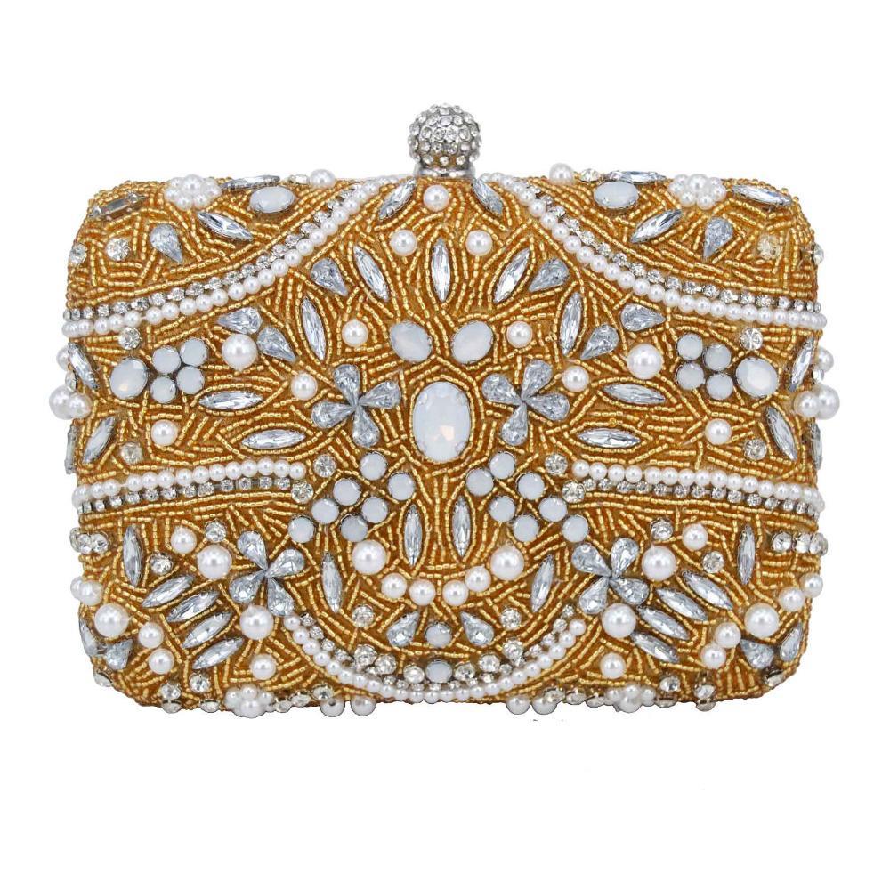 Braut-accessoires Symbol Der Marke Luxus Abendtasche Handtasche Perlen Kristall Tasche Schultertasche Brauttasche