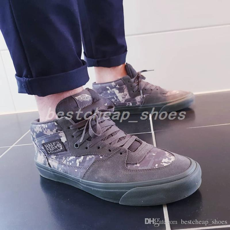 3ec0a9ca9054 2019 Vans X Wtaps Vault Half Cab LX Digi Camo Old Skool Women Casual Shoes  Skateboard Mens Canvas Sports Running Shoes Sneakers Size 36 44 From ...