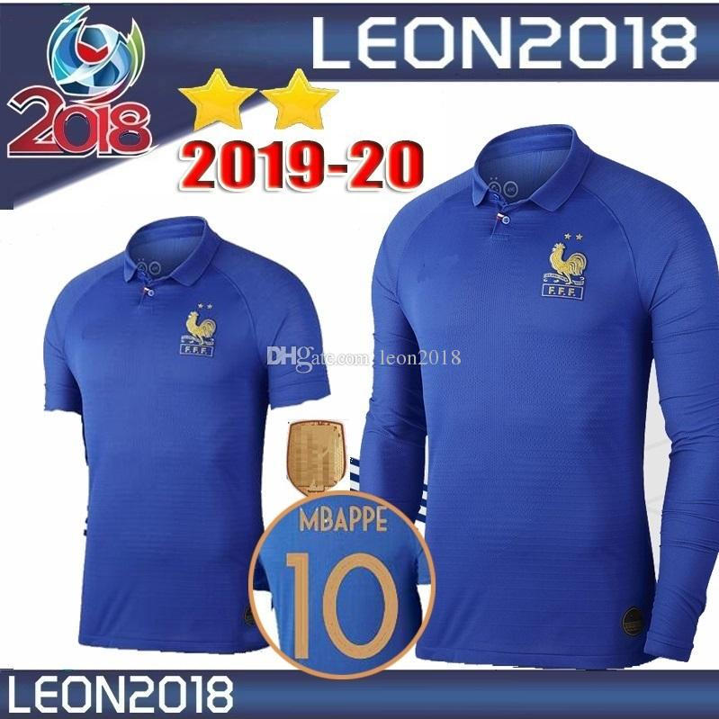 9c1b0d3954e 2019 Frances 1919 2019 Special Edition GRIEZMANN Centenary Soccer Jersey  MBAPPE French Shirt 19 20 Francia POGBA KANTE 100th Maillots De Football  From ...