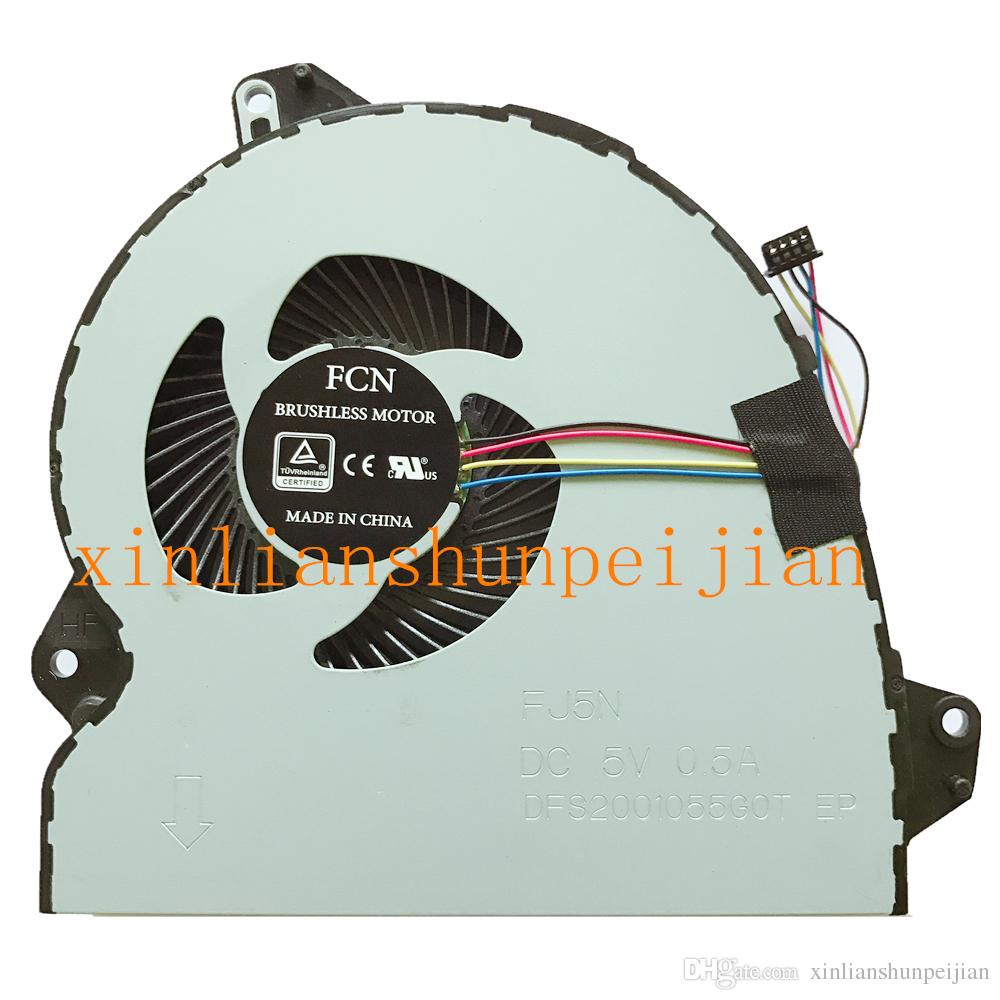New laptop CPU cooling fan Cooler Notebook for ASUS ROG Strix FCN DFS2001055G0T FJ5N DC 5V 0.5A EP DFS2001055C0T-FJ5N 1323-00VY000