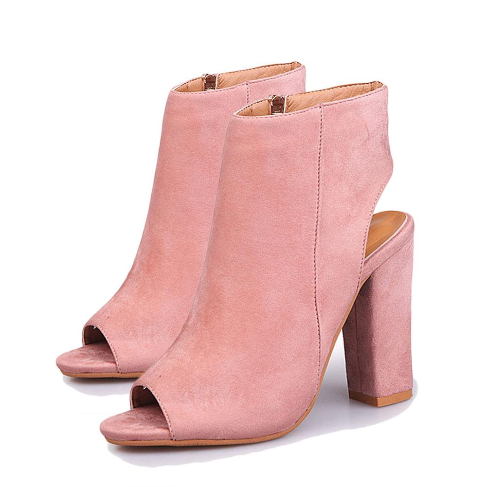 093fc2f4f1c6 Spring Summer Autumn Women Boots Ladies Suede High Heels Sexy Peep Toe Boots  Shoes Female New Fashion Fish Mouth Ladies Shoes Moon Boots From Clownie