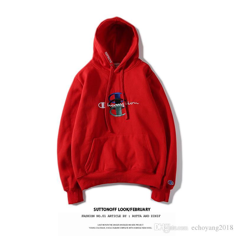 c16a3bf631c5 2019 2019 Fashion Luxury Men Designer Hoodies Champ Hip Hop Hoodies CP  Embroidery Streetwear Women Hooded Print Logo Sweatshirt Unisex Hoodies  From ...