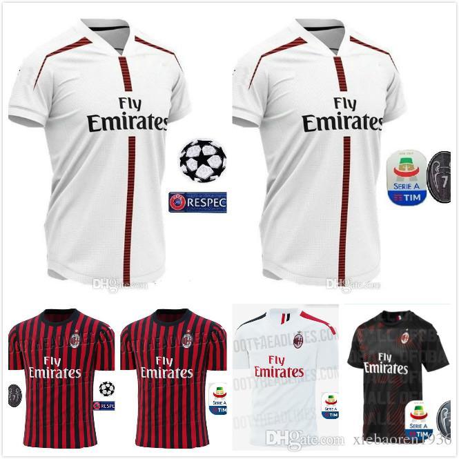 fedfb53189c 2019 Ac Milan Soccer Jersey 19/20 Milano Soccer Shirt Customized #10  CALHANOGLU #9 HIGUAIN 2019 2020 Football JERSEY Sales From Xiebaoren1936,  ...