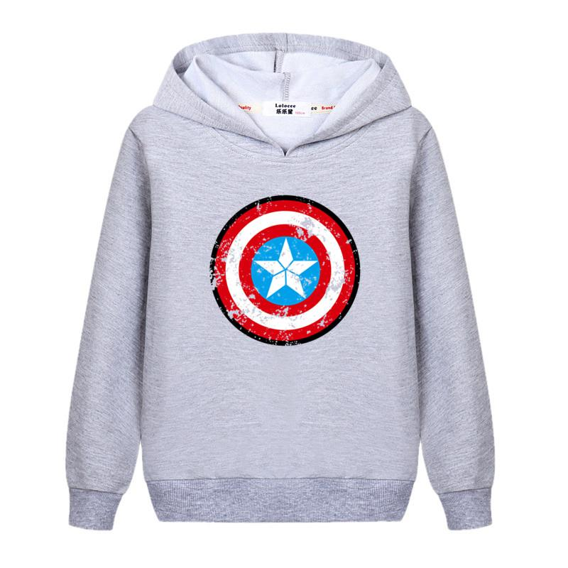 7c59f4c9c 2019 Lolocee Baby Girl Hero Logo Hoodie Kids Super Shield Sweatshirt Boys  America Captain Tops Brand Cotton Children'S Clothing Shirt From Redbull12,  ...