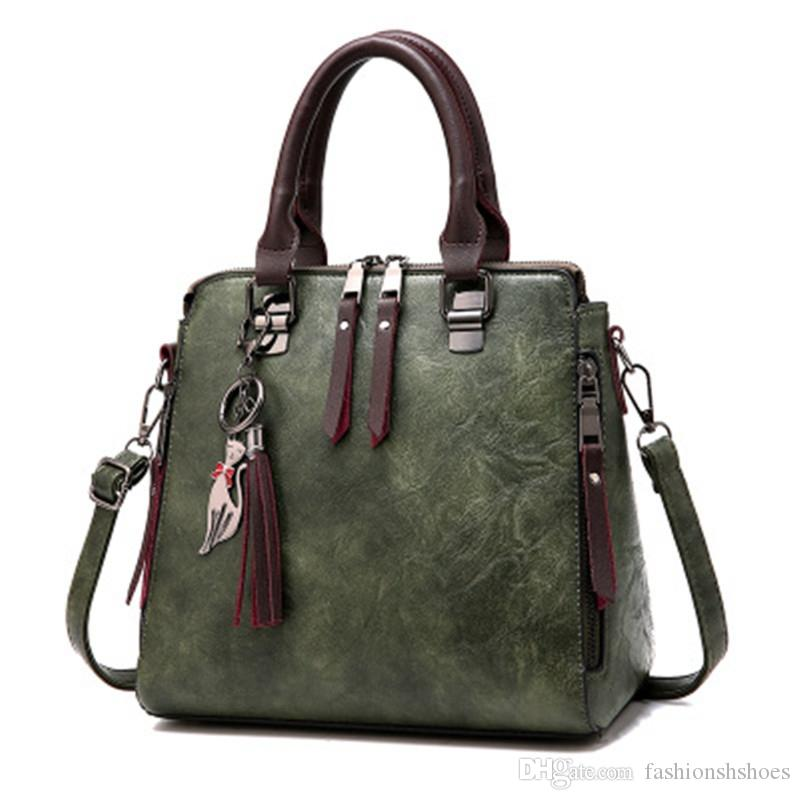 4a654efb42 Fondhere 2018 Vintage Leather Ladies HandBags Women Messenger Bags  TotesTassel Hot Sale Crossbody Shoulder Bag Hand Bag  34466 Ladies Bags  Backpack Purse ...