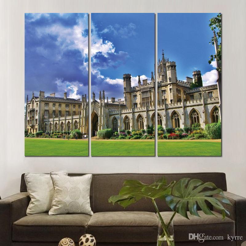 3 sätze HD leinwand universität von cambridge uk ungerahmt malerei wand kunst für dekor