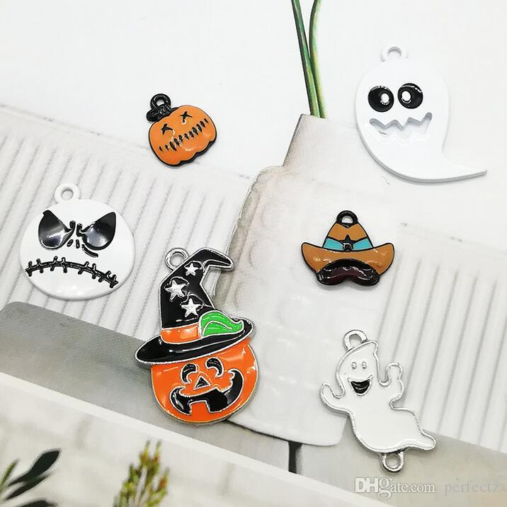 Wholesale Popular Cartoon The Nightmare Before Christmas DIY Metal pendants Charms Jewelry Making Gifts L006