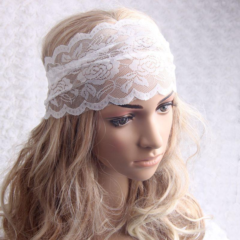 Lace Elastic Sports Headbands For Women Hair Accessories Headwear #yl0.92