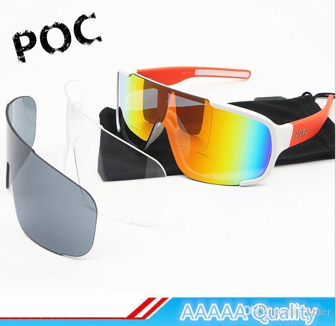 seleccione original precio asombroso precio bajo Las nuevas gafas de sol POC polarizadas Marca Cycing Eyewear para hombres  Gafas Gafas cicismo Bicicleta Mountian do blade MTB Gafas deportivas