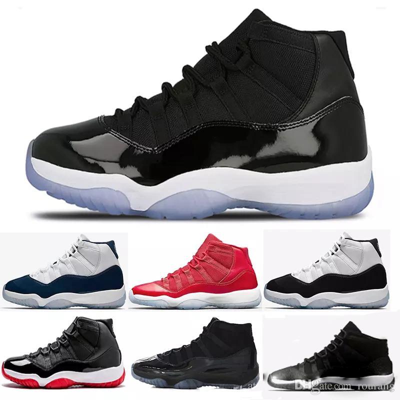 9e6a024a Купить Оптом Nike Air Jordan Aj11 Конкорд 45 Мужские 11 XI Баскетбольная  Обувь Платиновый Оттенок 23 Высокая 11s Пространство Джем Черный Белый UNC  Мужчины ...