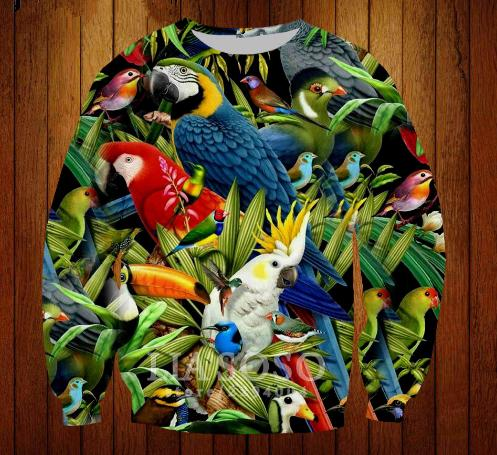 2019 New Fashion Hot Sale Colorful Birds Sweatshirt 3D Print Clothing Women  Men Unisxe Funny Sweatshirt Casual Outerwear Pullovers Tops K349 From ... 77157cdfe