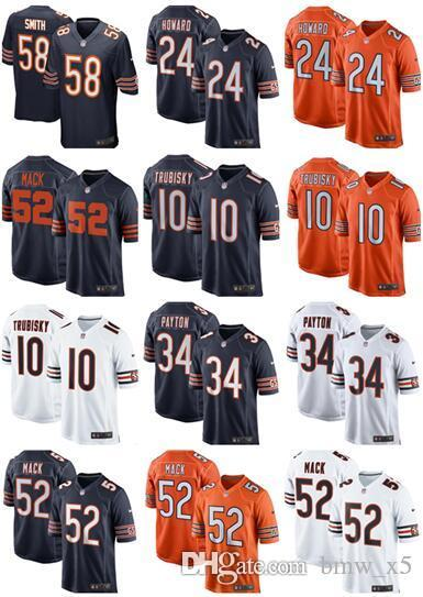 bcdb7c05f7309 2019 Chicago 52 Khalil Mack Jerseys 10 Mitchell Trubisky 34 Walter Payton  Bears 24 Howard Men Women Youth Kids Jersey From Bmw_x5, $16.25 | DHgate.Com