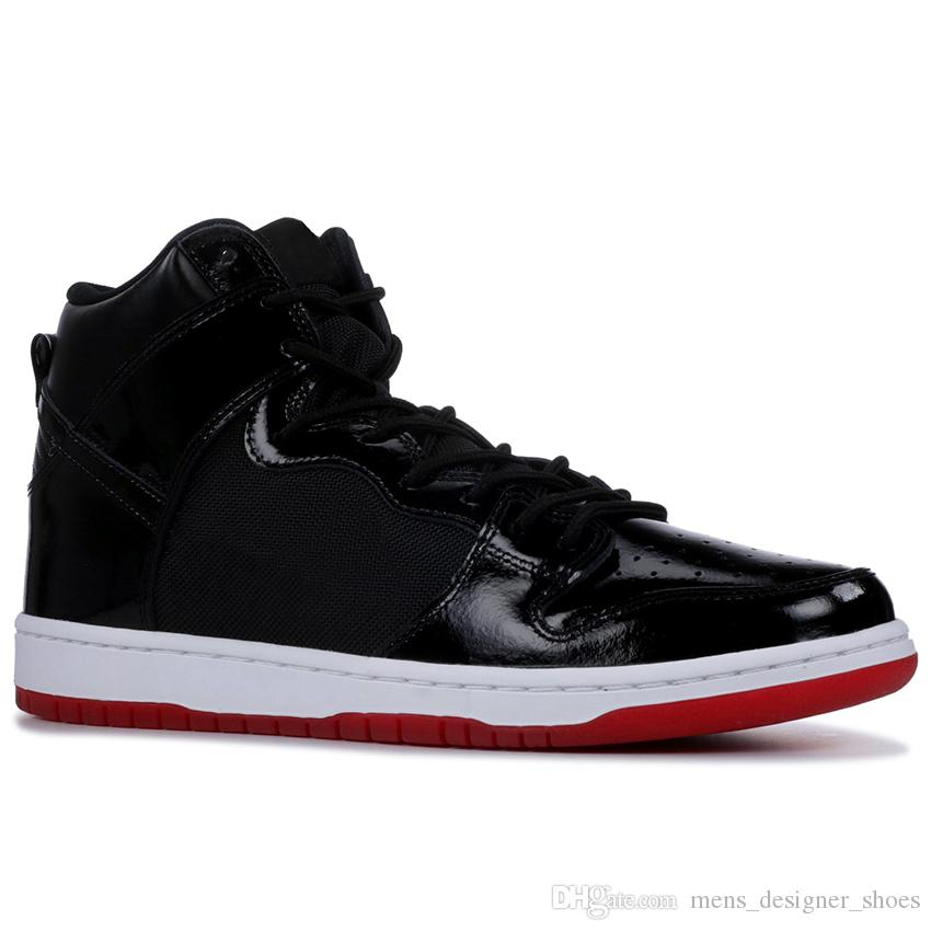 the latest 81e5a ede40 Nike Dunk High Premium SB Running Zapatos Casuales Negro Iridiscente Tri  Color Obsidian Bred White Widow Para Hombres Mujeres Zapatillas Deportivas  36 45 ...