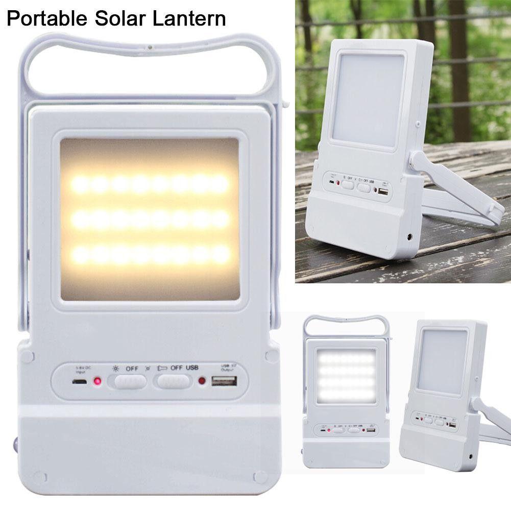 Tragbare Led Solar Lampe Usb Aufladbare Notfall Laterne Outdoor-camping-zelt Angeln Licht Kann Ladegerät Handy Außenbeleuchtung