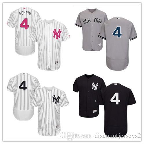 new style 084b4 1686d 2019 can Yankees Jerseys #4 Lou Gehrig Jerseys men#WOMEN#YOUTH#Men s  Baseball Jersey Majestic Stitched Professional sportswear