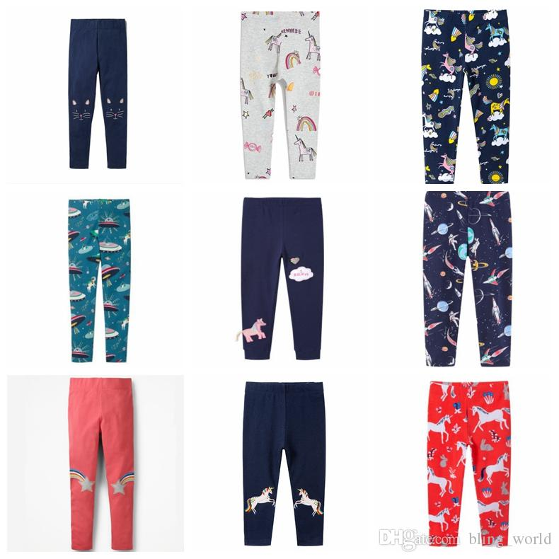 4d7ffa992dc42 Girls Leggings 100% Cotton Personalized Kids Tights Character Print  Children Trousers Skinny Pants Kids Clothes 40 Designs 50pcs YW1934