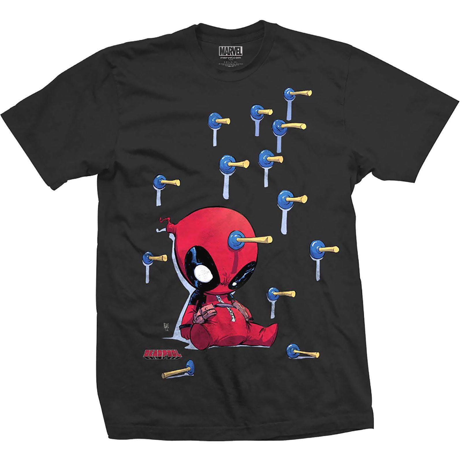 33abd47d9 Compre Deadpool Sauger Offizielle Top Camiseta De Manga Curta Kurzarm T  Shirt Da Marvel Comics Film Fil De Tisveet