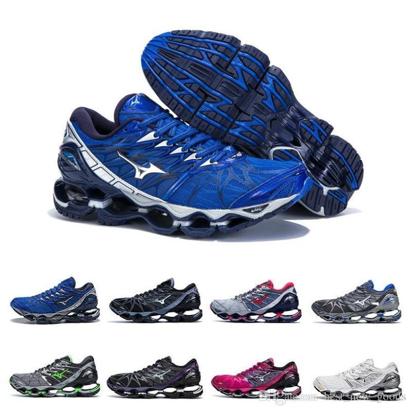 innovative design 75703 3185a 2019 Mizuno Wave Prophecy 7 Mens Designer Running Shoes Original Mizunos 7s  Men Trainers Sports Sneakers Size 36-45 New Arrival