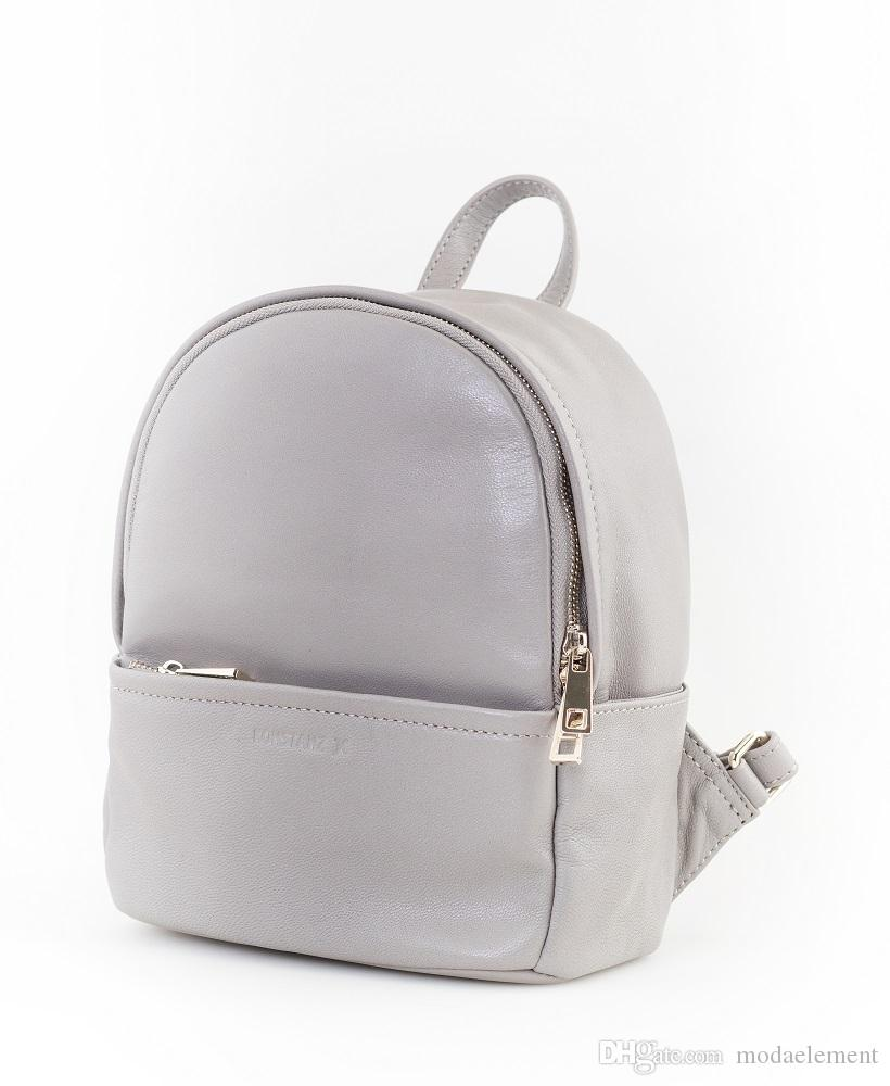 Borsa di design: 100% pelle di agnello Backpack_Grey