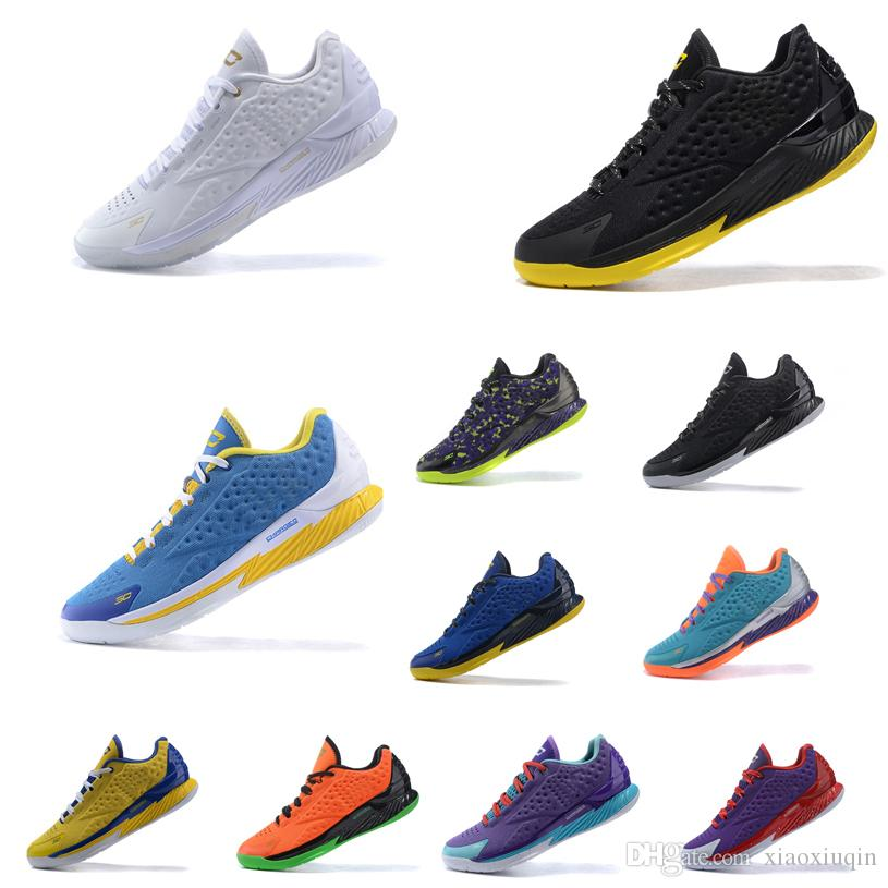 Cheap Men Curry 1 Low Basketball Shoes Christmas Yellow Black White Gold  MVP Blue BHM Youth Kids Stephen Currys One Sneakers Tennis With Box UK 2019  From ... 32296f4da41f