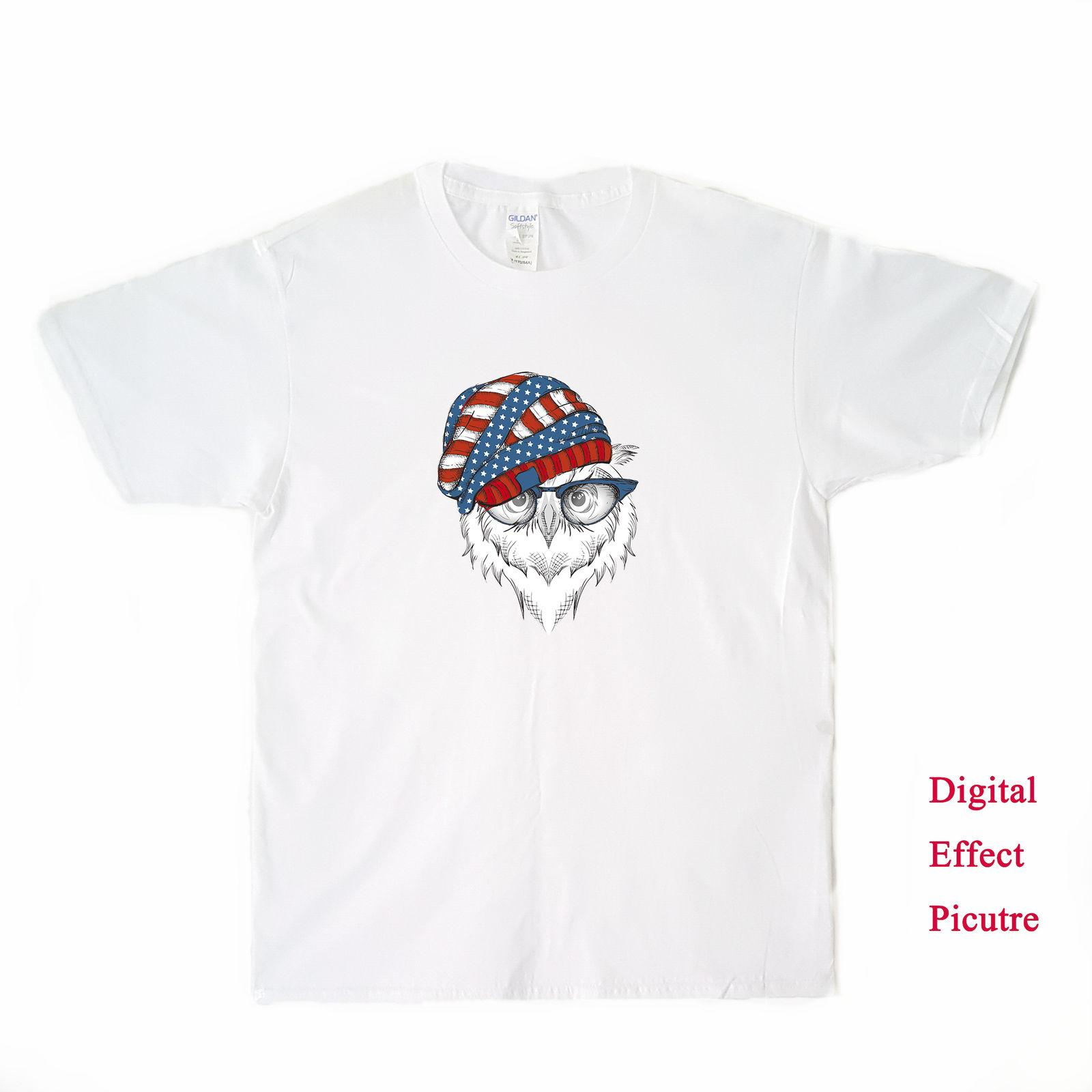Owl With American Flag Hat Men s T Shirt T Shirts Vintage T Shirts Sale  From Printforless51 40898a1c6a9